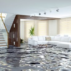 flooding in luxurious house